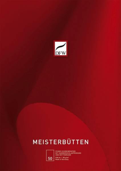 Briefblock Meisterbütten A4, unliniert, 80 g qm, 50 Blatt