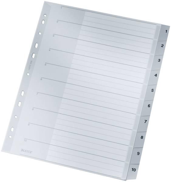 LEITZ Register Plastik A4 1-10 grau 1280 10tlg.