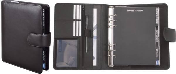 Systemplaner A5 Office, Nappaleder, schwarz, mit Magnetverschluss
