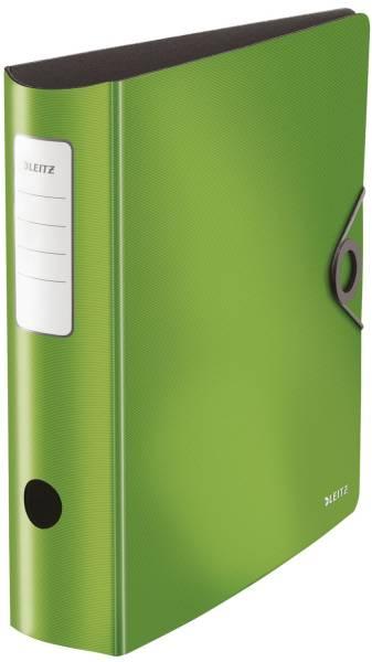 1047 Ordner 180° Active Solid A4, 8,2 cm, Innentaschen, Gummizug, hellgrün