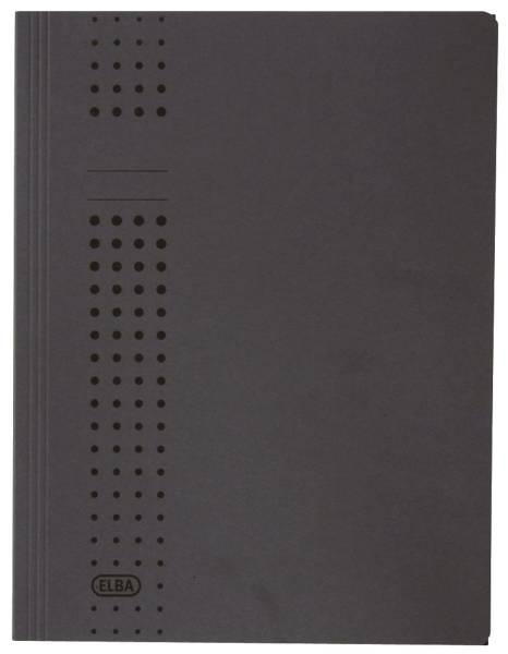 Sammelmappe chic, Karton (RC), 320 g qm, A4, 10 mm, anthrazit