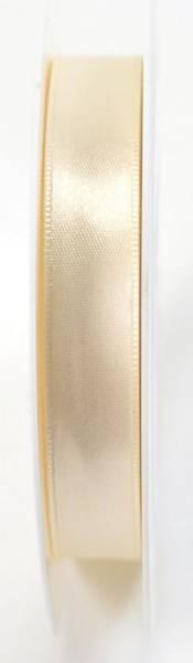 Doppelsatinband 15 mm x 25 m, creme
