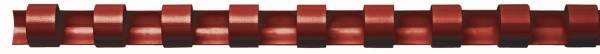 Plastik Binderücken, 12 mm, für 95 Blatt, rot, 100 Stück