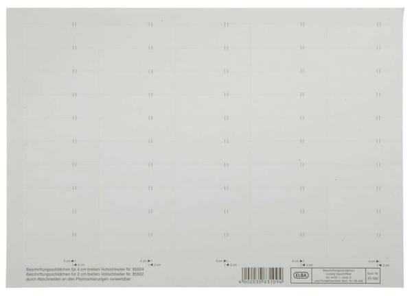 vertic Beschriftungsschild für Registratur, 58 x 18 mm, weiß, 50 Stück®