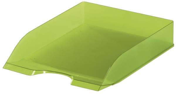 Briefablageschale BASIC A4 bis C4, transluzent light grün