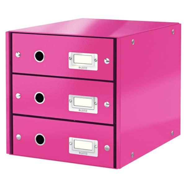 Schubladenbox Wow metallicpink