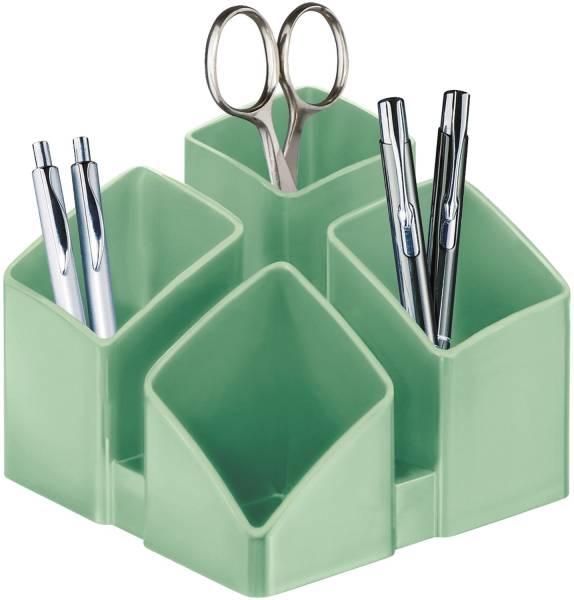 Schreibtisch Köcher SCALA 4 Fächern, jade grün