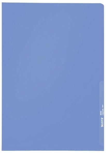 4000 Standard Sichthülle A4 PP Folie, genarbt, blau, 0,13 mm