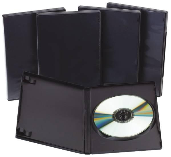 DVD Leerhüllen Hardbox für 1 DVD inkl Booklet