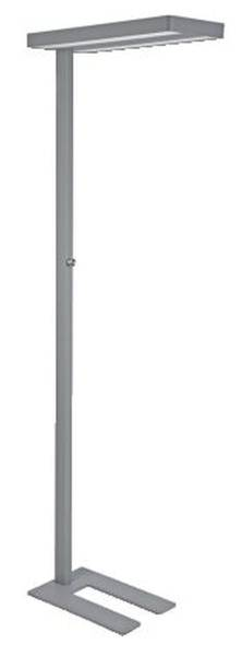 LED Standleuchte javal silber, dimmbar