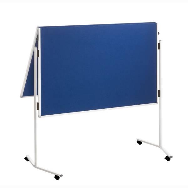 FRANKEN Moderatorentafel ECO Filz 120x150cm blau ECO-UMTFG03R klappbar