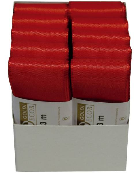 Basic Taftband 40 mm x 3 m, rot