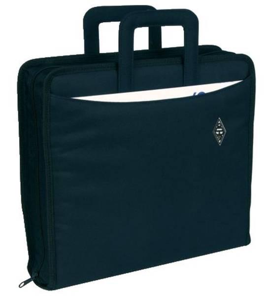 Ordnertasche Polyester, A4 Ordner bis 75mm Rückenbreite, schwarz
