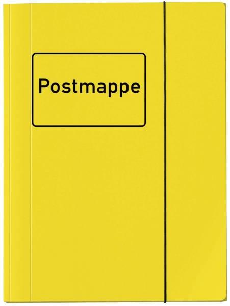 Sammelmappe VELOCOLOR mit Aufdruck Postmappe, DIN A4, Karton glanzkaschiert, gelb®