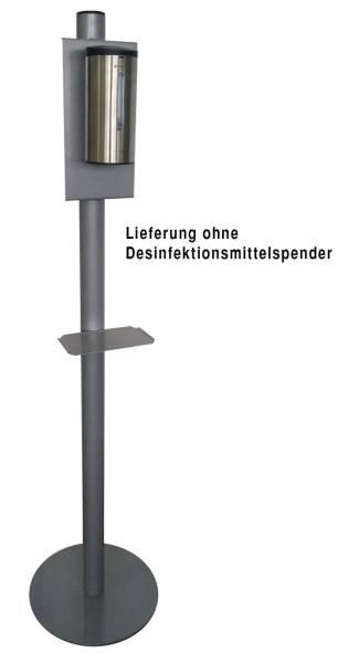 PRIMASoft Desinfektionsmittelsäule silbergrau 091002 Metall ohne Spender