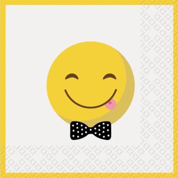 STEWO Motivserviette 33x33cm Smiley 2572 6501 10