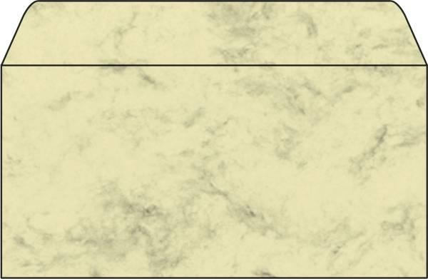 Umschlag, Marmor beige, DIN lang (110x220 mm), 90 g qm, 50 Umschläge
