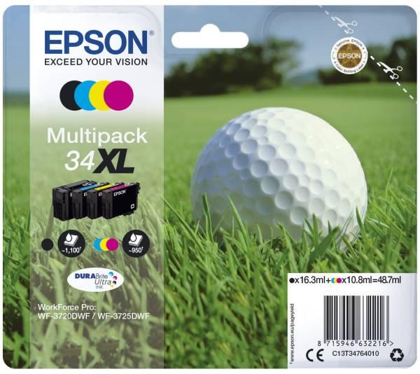 EPSON Inkjetpatrone Nr.34XL sw,c,m,y C13T34764010 Multipack