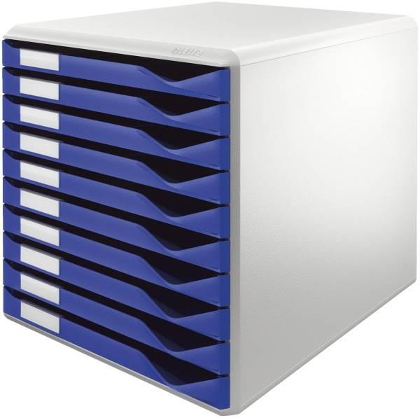 LEITZ Schubladenbox 10 Laden blau 5281-00-35