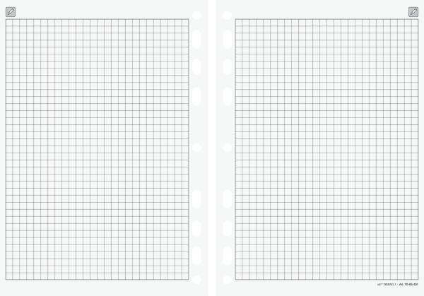 RIDO Ersatzeinlage kariert Papier 14,8x21cm 7065451 für Timing 1