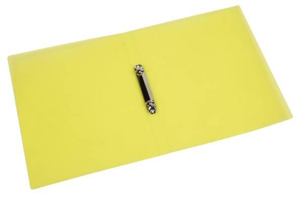 Q-CONNECT Schulordner A4 transluzent gelb KF15291 2 Ring 16mm