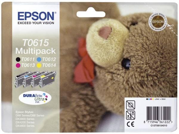 EPSON Inkjet Kit T0615 b,c,m,y C13T06154010 Photo Pack