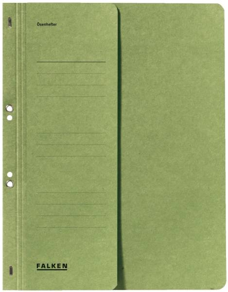 Ösenhefter A4 1 2 Vorderdeckel kfm Heftung, grün, Manilakarton, 250 g qm