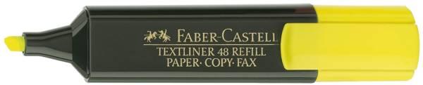 FABER CASTELL Textmarker Textliner 48 gelb 154807 nachfüllbar