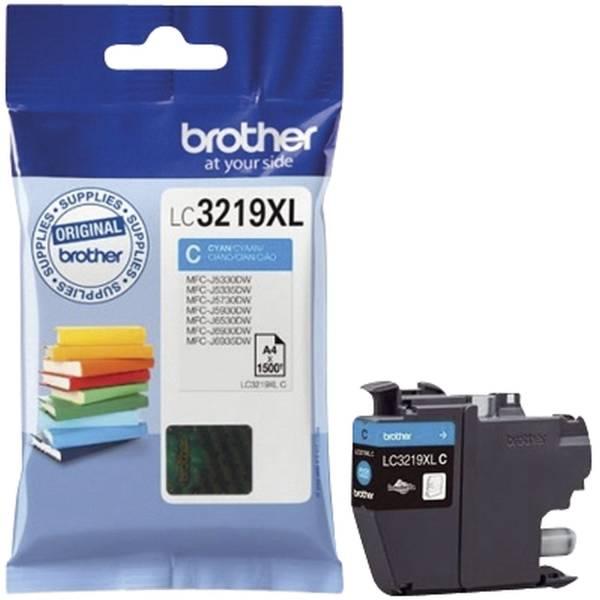 BROTHER Inkjetpatrone cyan LC3219XLC