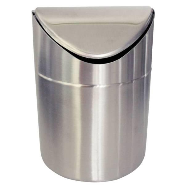 Abfallsammler Tisch Edelstahl 4130 mit Schwingdeckel