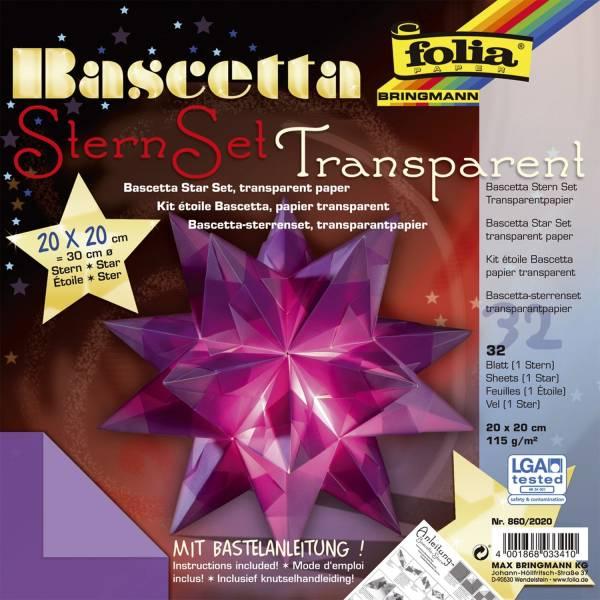 Bascetta Stern violett, transparent, Ø 30 cm