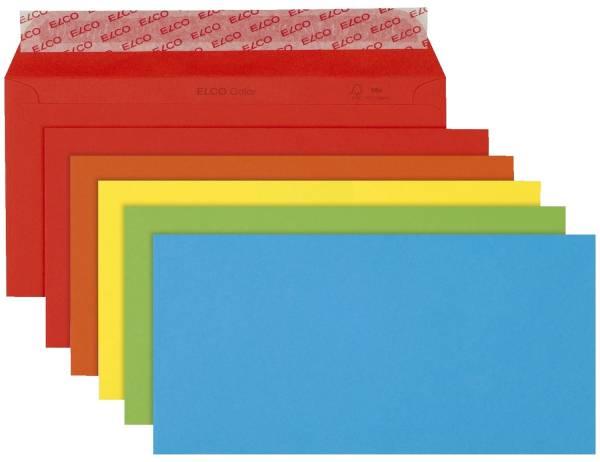 Briefumschlag Color DL, Kleinpackung 20 Stück, 5 Farben sortiert, haftklebend
