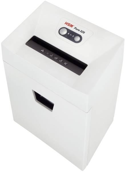 HSM Aktenvernichter Pure 320 weiß 2330121 Streif. 3,9mm