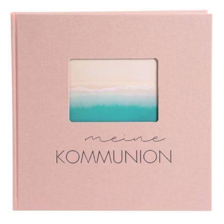 Kommunionsalbum Pastell 25 x 25 cm, rose