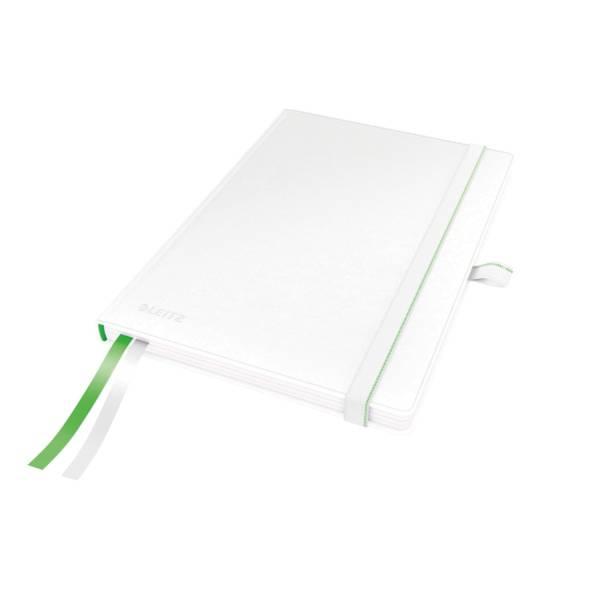 LEITZ Notizbuch A5 Complete weiß 4478-00-01 liniert