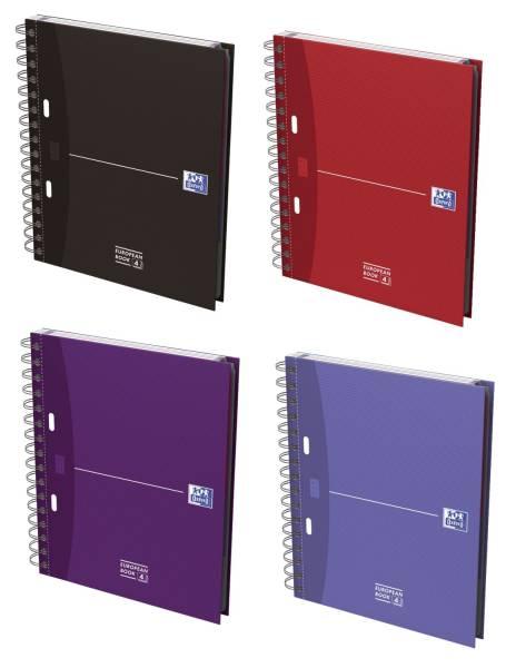 Office European Book A5+, 5mm kariert, 100 Blatt, sortiert