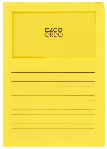 Sichtmappen Ordo classico mit Sichtfenster und Linien, intensiv gelb, 100 Stück