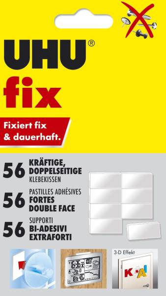 UHU Klebekissen 12mmx18mm 48805 Fix & Fest 50ST
