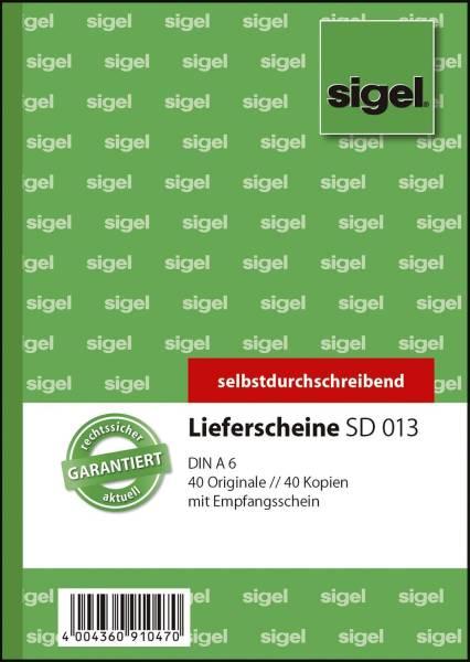 Lieferscheine mit Empfangsschein A6, 1 und 2 Blatt bedruckt, SD, MP, 2 x 40 Blatt