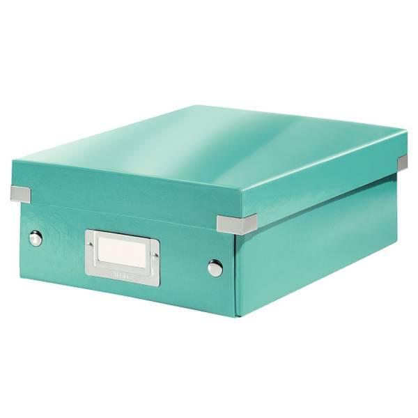 LEITZ Archivbox A5 Wow metal.eisblau 6057-00-51 Click&Store