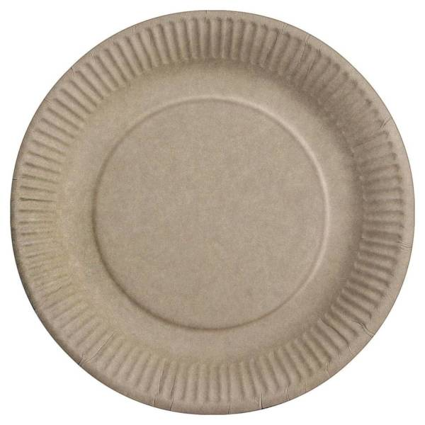 HOSTI Teller PAPPE braun 100ST 16113010 DM 23cm