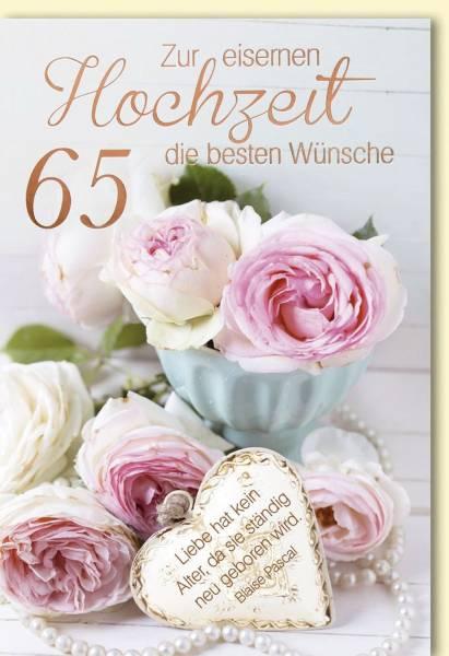 Eiserne Hochzeitskarte 3010 Bild