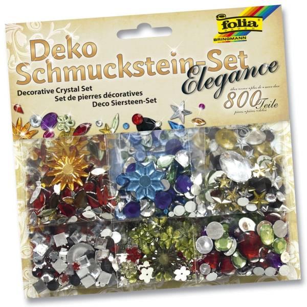 Schmuckstein Set Elegance ca 800 Teile, Größen Farben sortiert