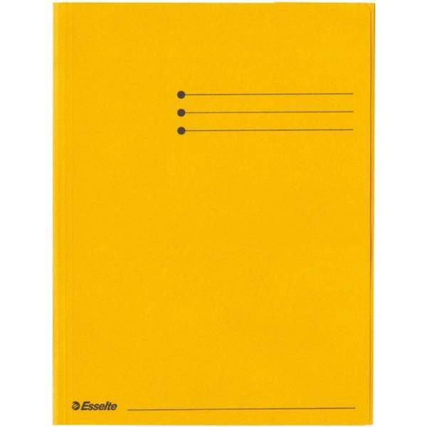 ESSELTE Dreiflügelmappe gelb 44227