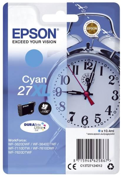 EPSON Inkjetpatrone Nr. 27XL cyan C13T27124012