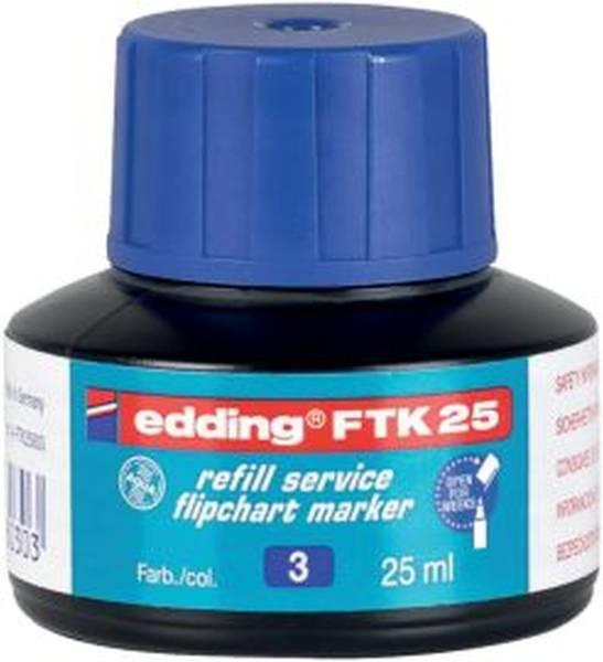 EDDING Nachfülltusche FTK25 blau 4-FTK25003