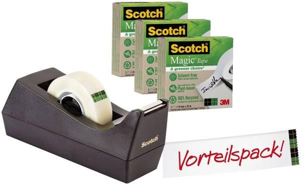 SCOTCH Tischabroller greenerChoice schw 900C38G3 +3Rl Magic