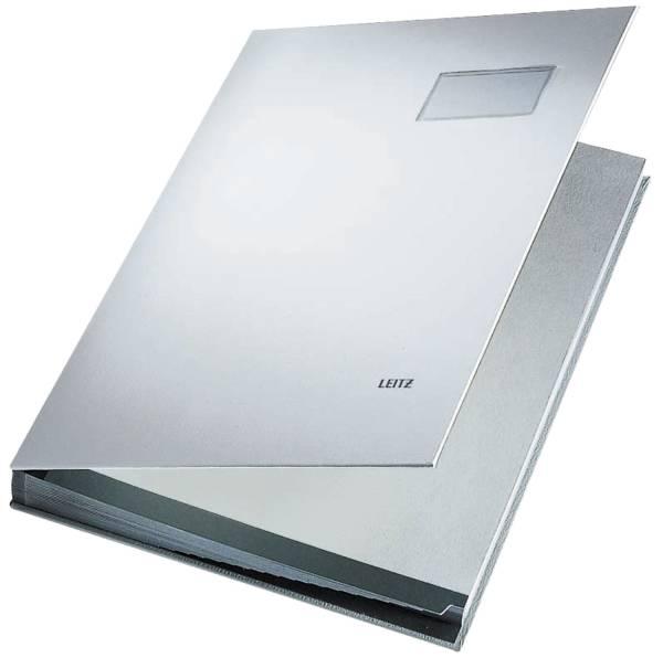 LEITZ Unterschriftsmappe 20 Fächer grau 57000085 Einband PP-kaschiert