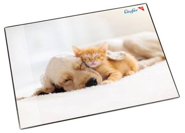 LÄUFER Schreibunterlage Motiv 40x53cm 46657 Hund und Katze