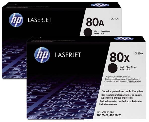 Druckkassetten schwarz, 2 x 2 700 Seiten, CF280XD®